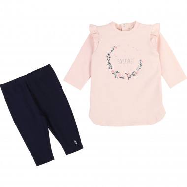 Ensemble robe legging coton CARREMENT BEAU pour FILLE