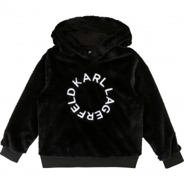 Sweat capuche fausse fourrure KARL LAGERFELD KIDS pour FILLE